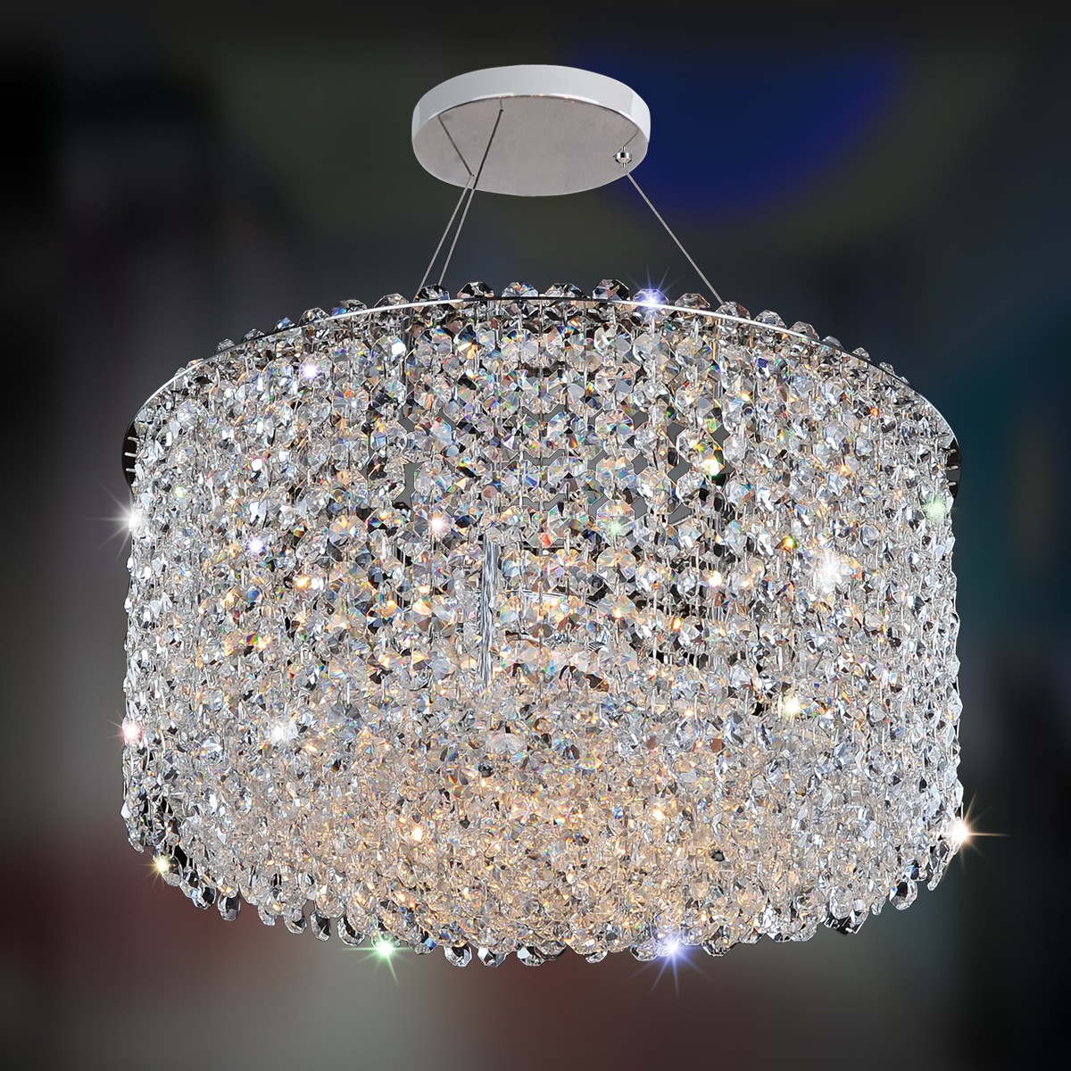 Milieu metro 6 light semi flush allegri crystal custom lighting aloadofball Gallery