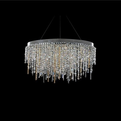 Glacier 42 Inch Led Wave Island Allegri Crystal Custom